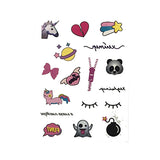 Emoji Small Temporary Tattoo Body Stickers for Kids