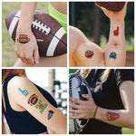 American Football Green Icon Tattoo Sticker