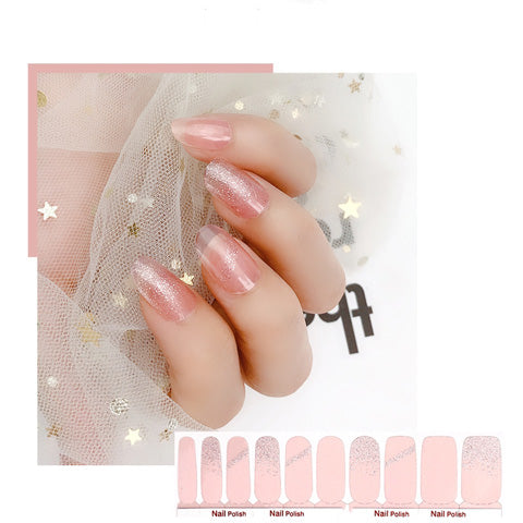 Shimmer Jelly Pink Nail Wraps