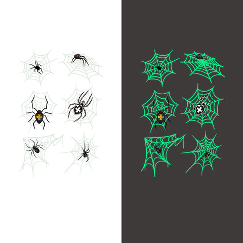 Luminous spider Temporary Tattoo Sticker-2 Glow in the dark