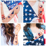 American National Flag Face Tattoo-8