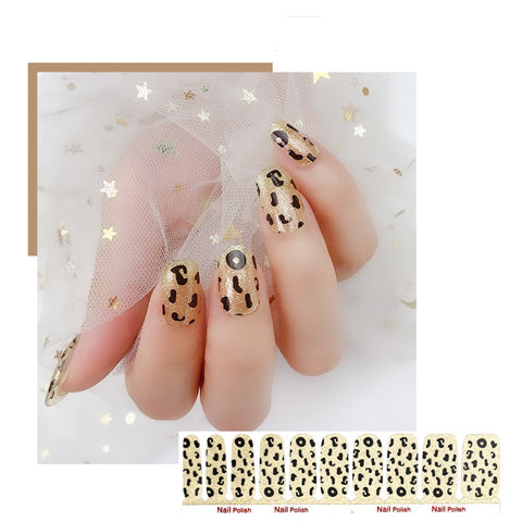 Shimmer Leopard Nail Wraps