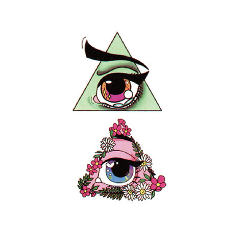 Anime Eye in Colored Triangle