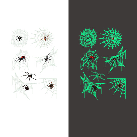 Luminous spider Temporary Tattoo Sticker-3 Glow in the dark