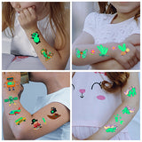 Luminous Skull kids temporary tattoo Glow in the dark