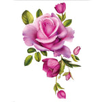 Purple Floral Tattoo Sticker