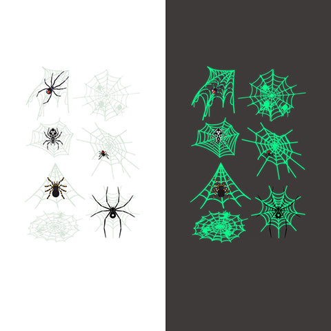 Luminous spider Temporary Tattoo Sticker-4 Glow in the dark