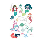 Cartoon Series Mermaid Tattoo for Kids