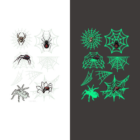 Luminous spider Temporary Tattoo Sticker-5 Glow in the dark
