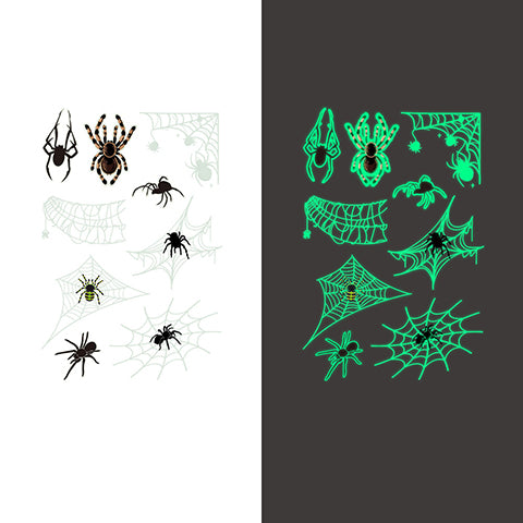 Luminous spider Temporary Tattoo Sticker-7 Glow in the dark