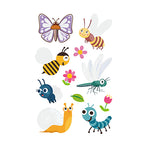 Cartoon Series Butterly Tattoo for Kids