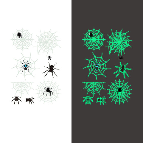 Luminous spider Temporary Tattoo Sticker-8 Glow in the dark