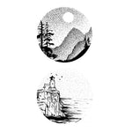 Forest Lighthouse Stickers