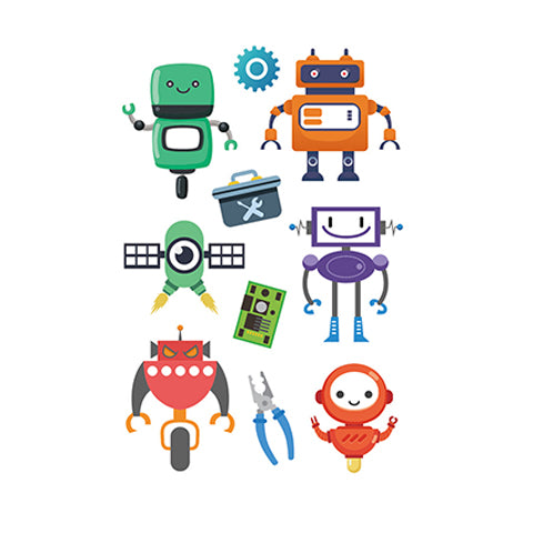 Cartoon Series Robot Tattoo for Kids