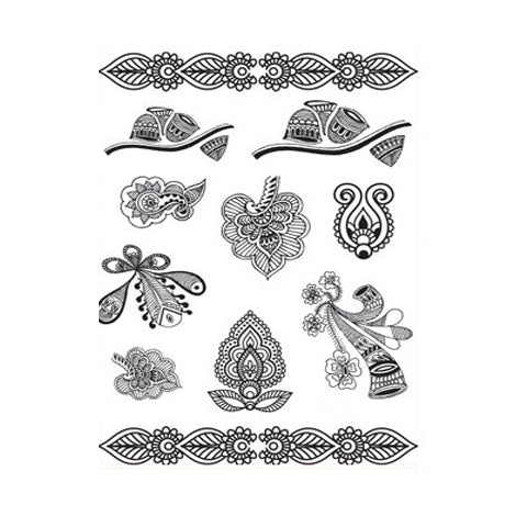 Indian Mehndi  Mehndi Stickers