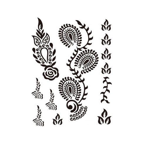 Indian Mehndi  Leaf Set