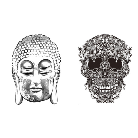 Buddha and Skull