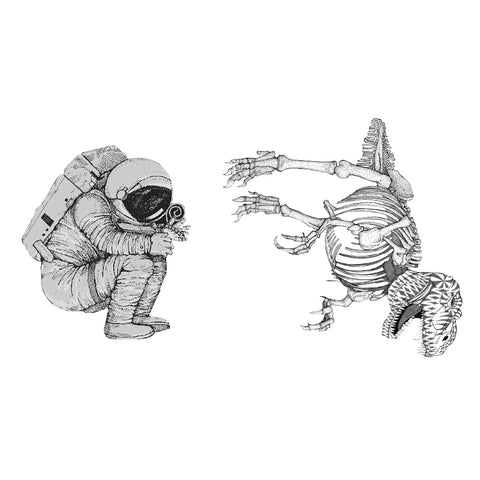 Aquanaut and Dinosaur Skeleton