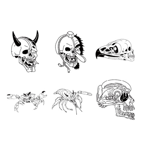 Demon Inspired Skull Designs