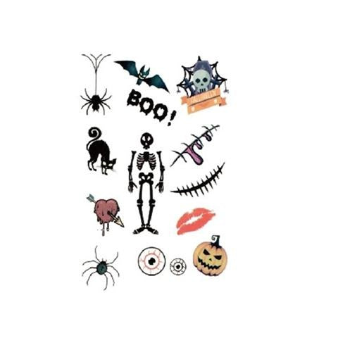 Halloween Cartoon Icon Tattoo Sticker