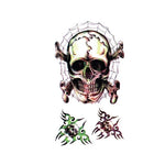 Halloween Cartoon Skull Tattoo Sticker