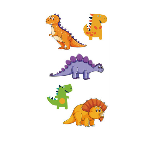 Cartoon Dinosaur Party Stickers