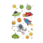 Cartoon Astronaut Tattoo Stickers for Kids