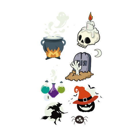 Halloween Colored Stickers Glow in the Dark