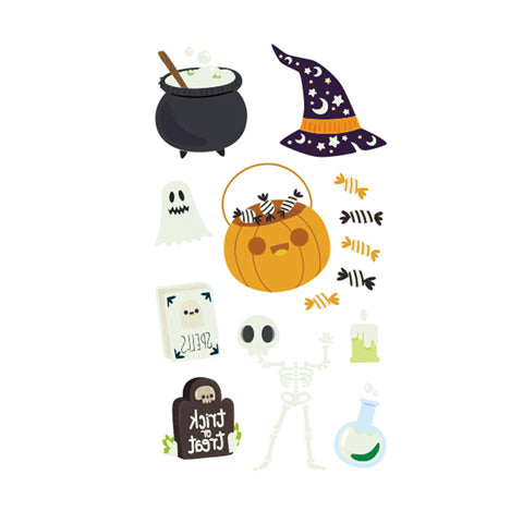 Halloween Colored Decals Cute Glow in the Dark