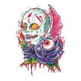 Colored Zombie Tattoo Sticker