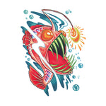 Pop Anglerfish Tattoo Sticker