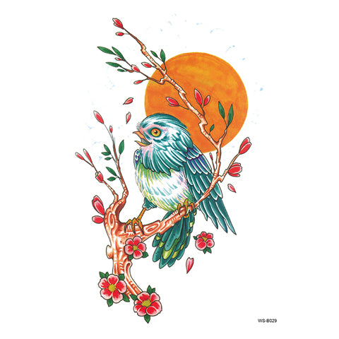 Pop Bird Tattoo Sticker
