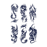 Artistic Animal Tattoo Stickers (Semi-Permanent)