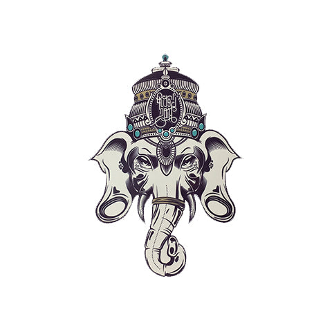 Elephant Ganesha Tattoo Sticker