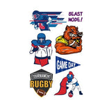 American Football Rugby Tattoo Sticker