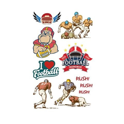 American Football Red Icon Tattoo Sticker
