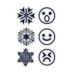 Snowflake and Emoji (Semi-Permanent)