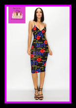 Load image into Gallery viewer, Lips all over me dress