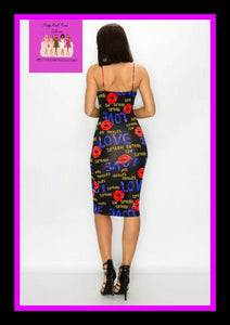 Lips all over me dress