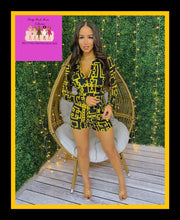 Load image into Gallery viewer, Gold Maze Romper