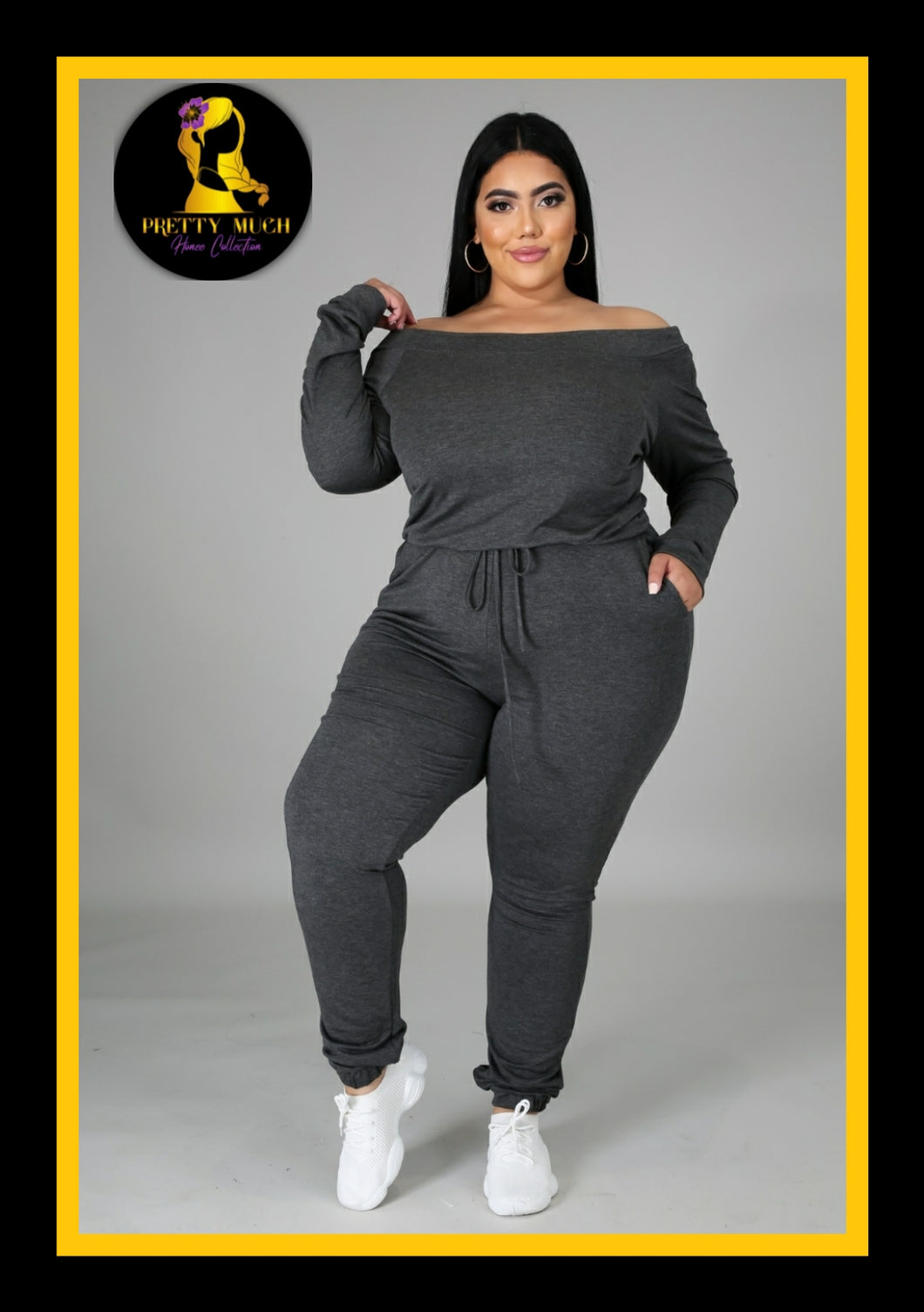Charcoal Honee Plus Size Jumpsuit