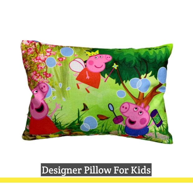 Little Marts Cartoon Printed Velvet Baby Pillow