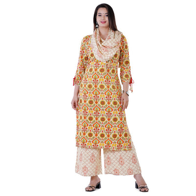 EMBROIDERED WORK READYMADE PLAZO KURTI