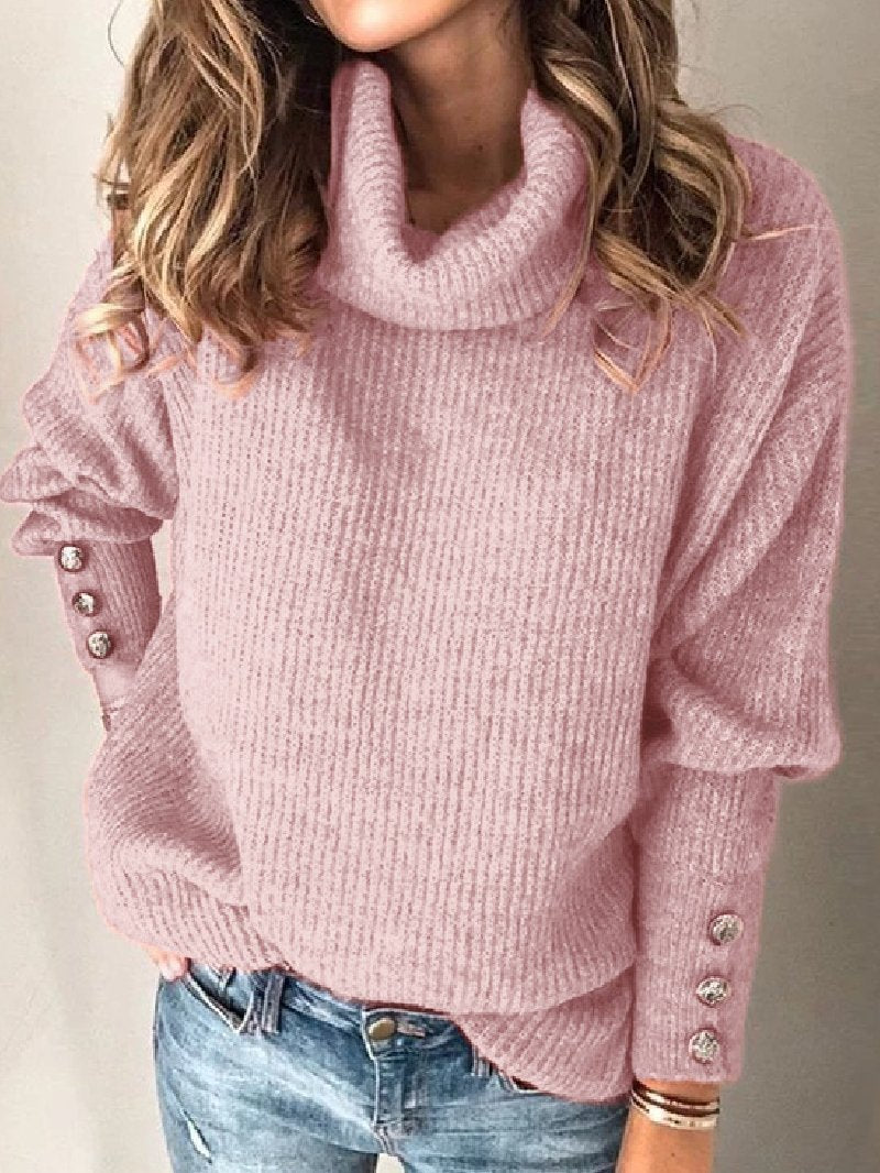 2021 Women's High Neck Sweater Loose Top