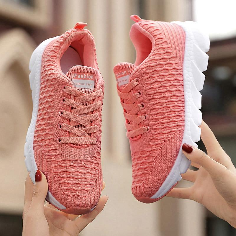 Women's Casual Running Shoes Breathable Knit Sneakers