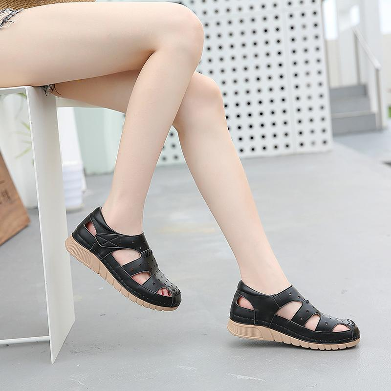 Hollow Wedge Heels Velcro Casual Sandals