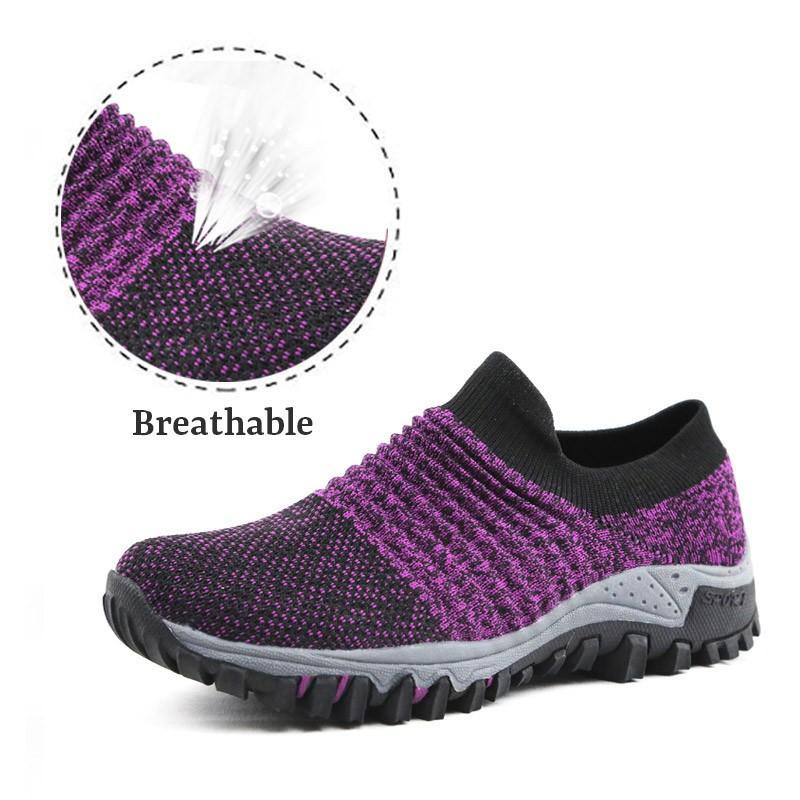 Women's Breathable Non-Slip flat shoes Two Choices  (plus wide and normal wide)