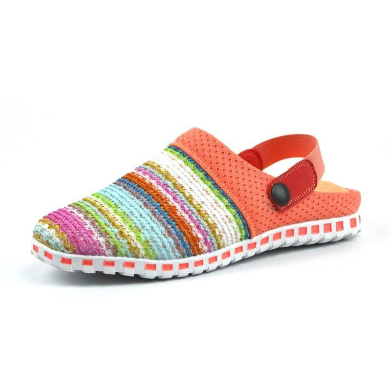 Women's stylish pretty knitted pretty slip-on sandals