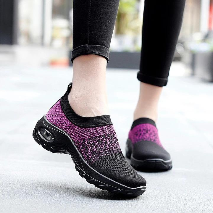 Women's  summer spring breathable lightweight leisure air cushion sneakers thick soles
