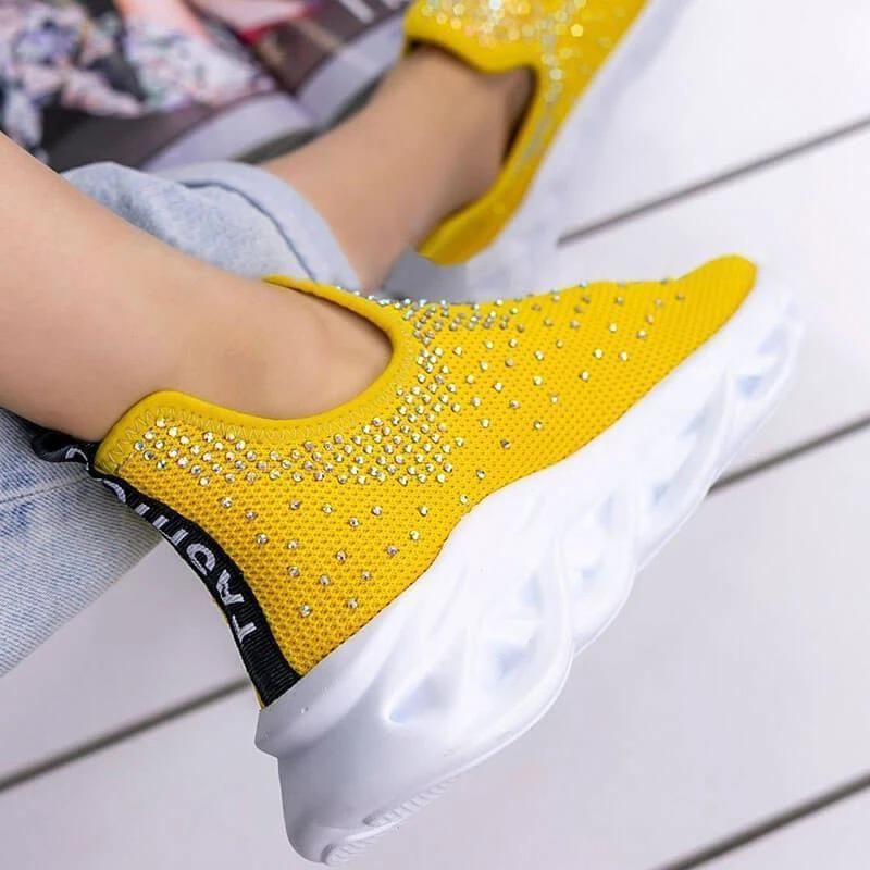 Women's Fashionable and Comfortable Bling Paillette Platform Sneakers